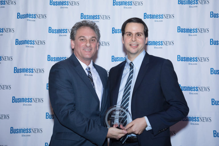Nicholas Venditto and Joe Giametta (l), Publisher of LIBN
