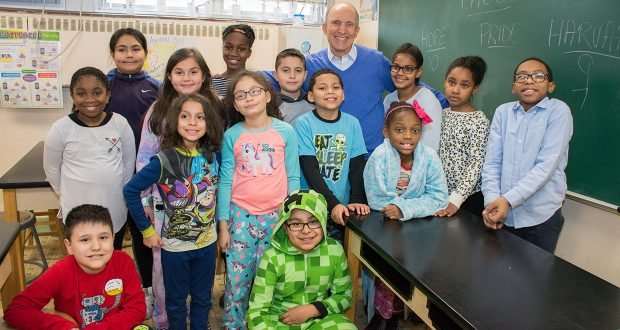 Certilman Balin Partner Fred Skolnik Mentoring at the Walnut Street Elementary School