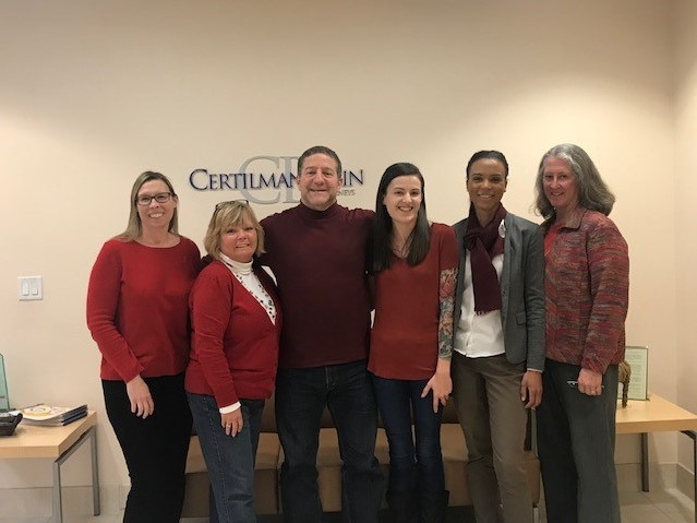 Certilman Balin - American Heart Association on National Wear Red Day